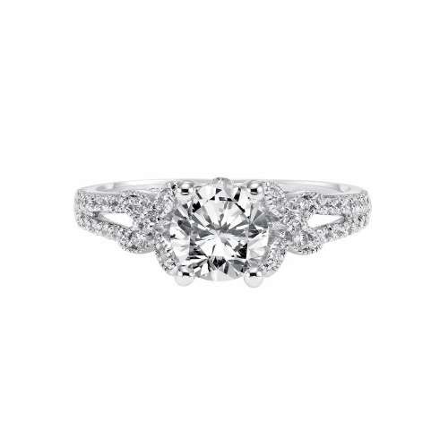 Show off your engagement with an ArtCarved diamond ring.