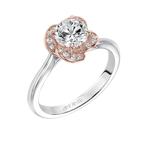 Joesphina is a rose gold engagement ring.