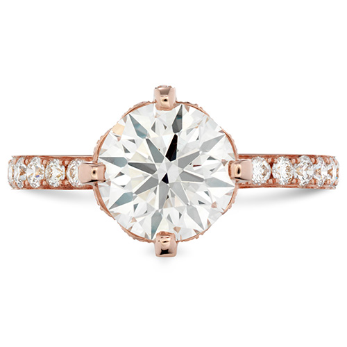 Desire is a rose gold engagement ring that is from Hearts on Fire.