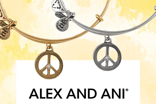 The Peace Charm Bangle is on special now.
