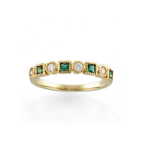 Ben David Jewelers sells emerald diamond rings.
