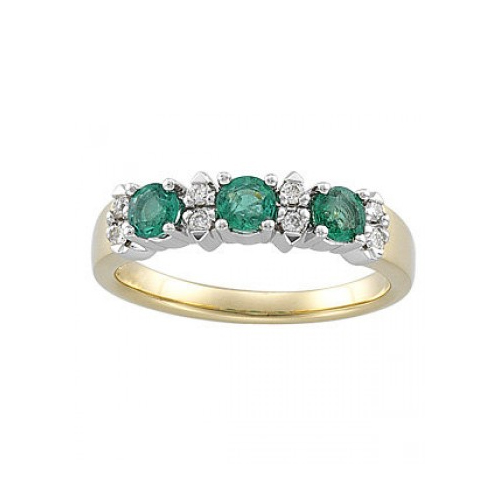 Emerald and diamonds are a good combination meaning eternal love.