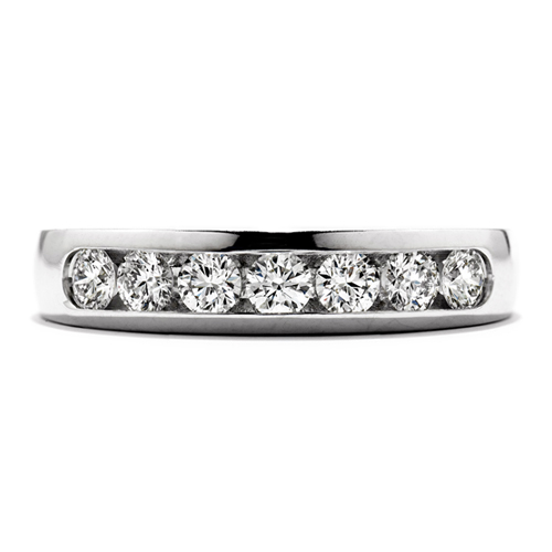 This diamond eternity ring offers many options in the number of carats.