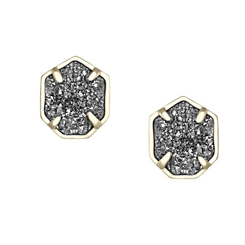 These drusy earrings are studs.