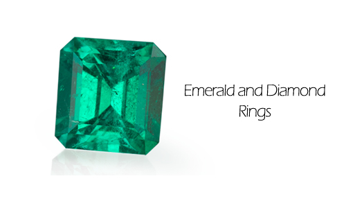 Emerald diamond rings are available in Danville at Ben David Jewelers.