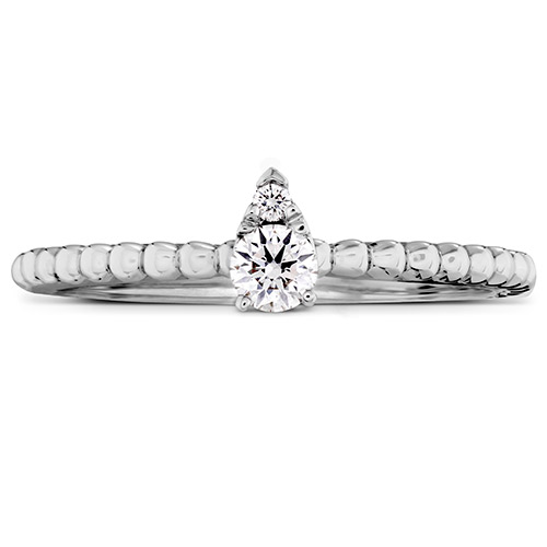 Hearts on Fire made this delicate, pear-shaped setting ring.