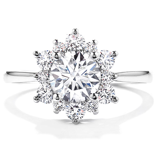 Hearts on Fire makes this 2.5 carat diamond engagement ring.