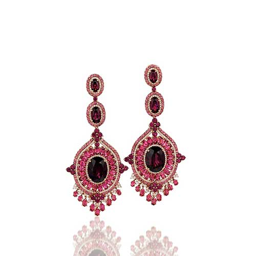 This colored diamond earring pair is LeVian item #SUSH6.