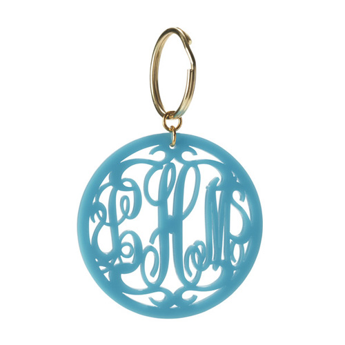 Personalized Moon and Lola keychain with your own monogram is for sale at Ben David Jewelers.