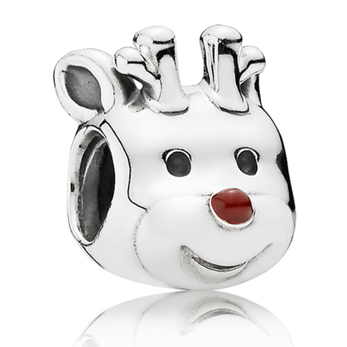 New this holiday season is the Red Nosed Reindeer Charm.