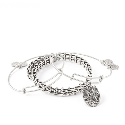 This set includes three different Alex and Ani Bangles.