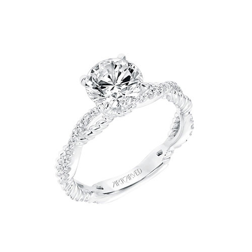 White gold is an option on most of ArtCarved's engagement rings.