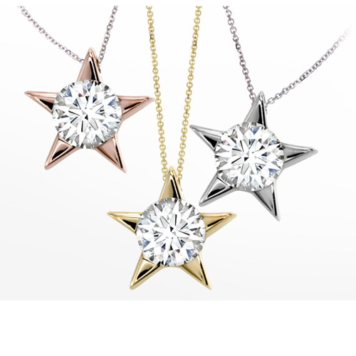 Hearts on Fire diamond star pendant necklace.