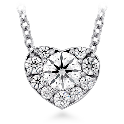 Hearts on Fire created this diamond pendant.