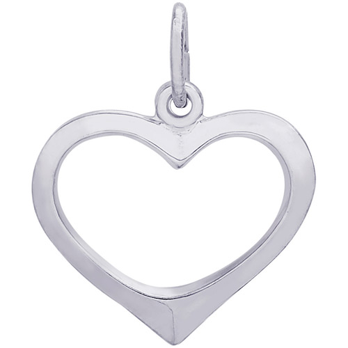 The Heart charm is also available in gold and gold plate.