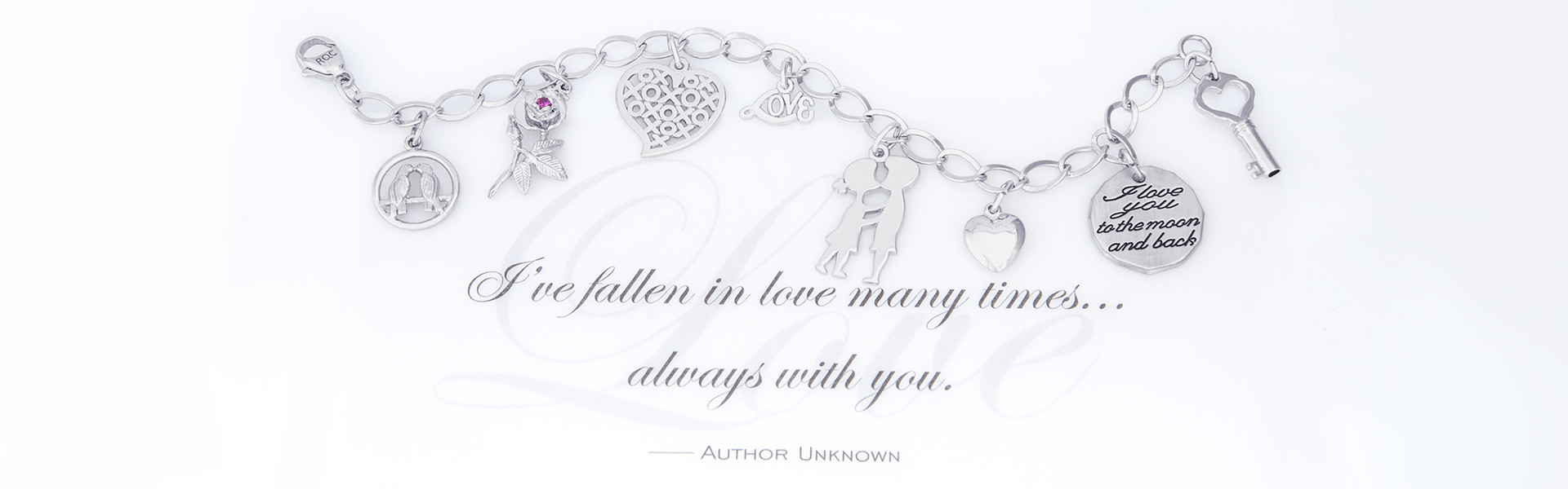 """Get her a charm to say """"I love you"""" on Valentine's Day."""