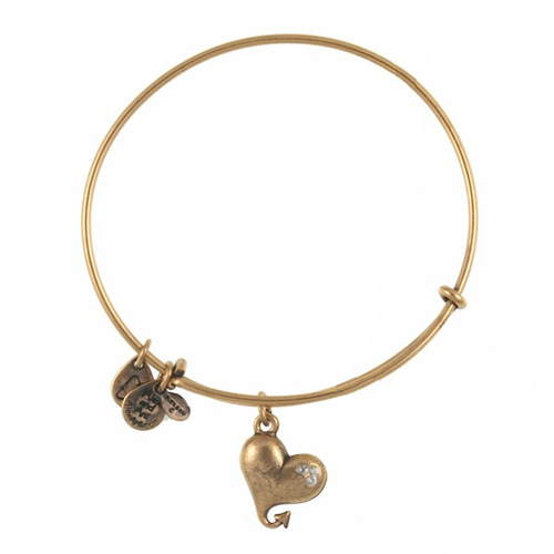 The Cupid Heart bangle is $5 off in February, 2016.