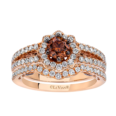LeVian jewelry often features chocolate diamonds.