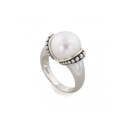 Sterling Silver is a popular metal for pearl rings.