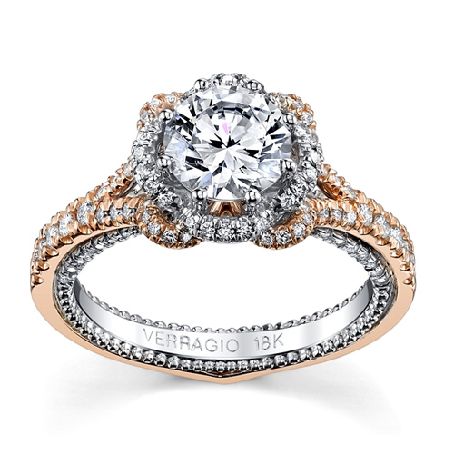 Verragio makes beautiful diamond engagement rings. Pay attention to diamond color in yellow gold settings.