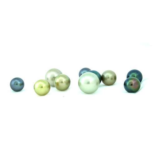 Tahitian pearls are sea pearls with deep, dark color.