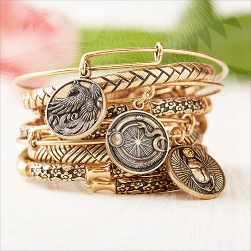 Alex and Ani focus on spiritually based jewelry for many of their collections.