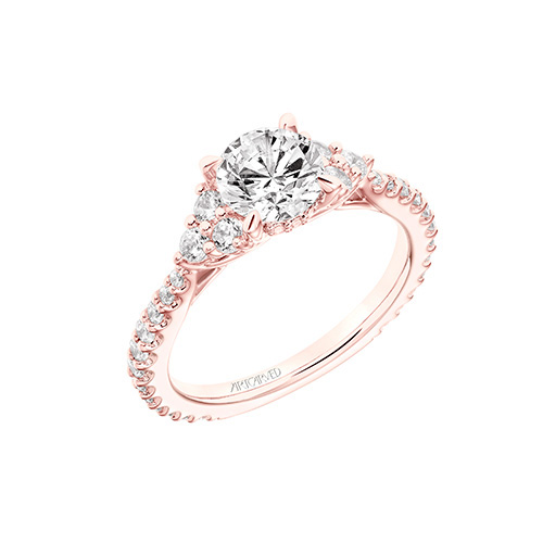 ArtCarved is a popular designer of engagement rings.