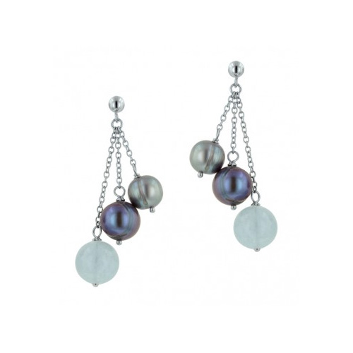 Black Pearls are featured in many of the Honora earring designs.