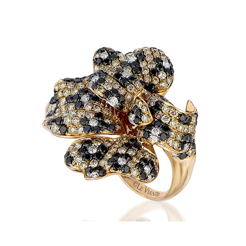Black diamond rings are beautifully designed by Le Vian Jewelers.