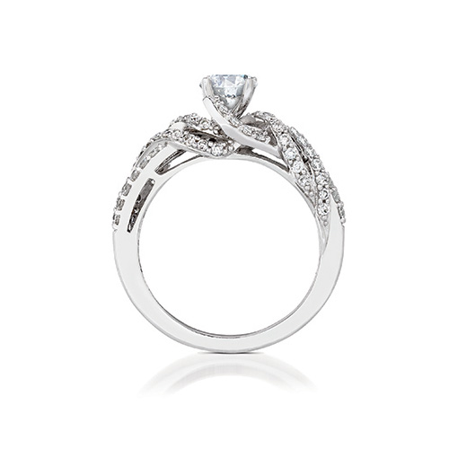 LeVian also designs engagement rings with white diamonds.