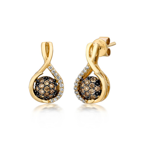 Le Vian chocolate earrings are very popular.