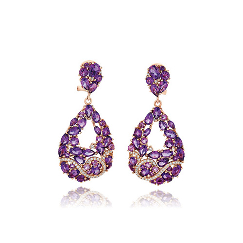 Le Vian frequently designs with purple diamonds.