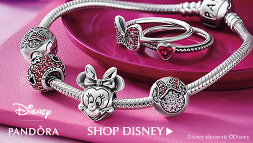Minnie Mouse charms for Pandora bracelets.