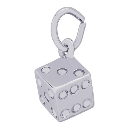 Add a little luck to your favorite dice game with a sterling silver dice charm.