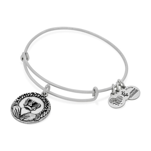 The Alex and Ani heart bangle name Claddagh is rich in Irish tradition.