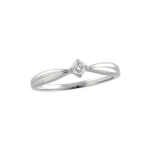 Promise rings are a lot more modest than an engagement ring.