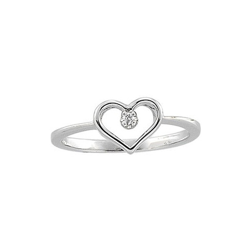A heart shaped ring symbolizes your love.