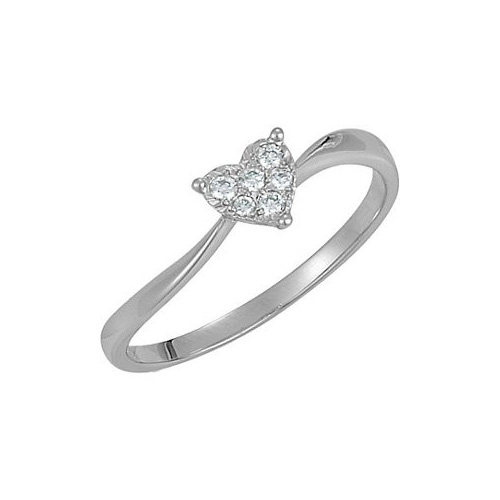 This ring features many diamonds and white gold.