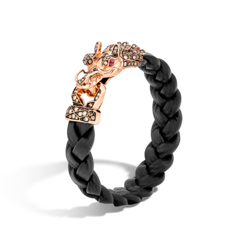 John Hardy designs men's jewelry like this Naga bracelet.