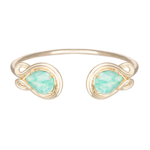 This gold amazonite bracelet is part of the amazonite collection for spring.