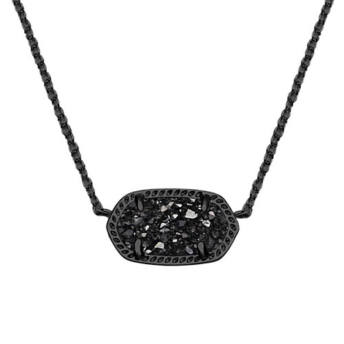 Black druzy gives a little sophistication to everyday wear.