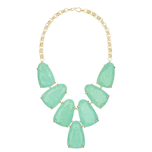 Kendra Scott uses a lot of amazonite in this spring line for 2016.