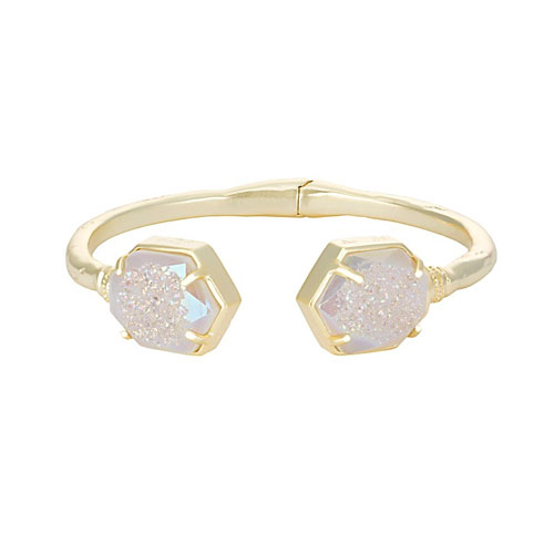 Kendra Scott have many rings, earrings and bracelets featuring druzy.