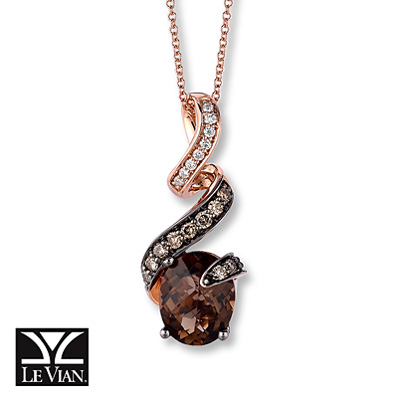 This Le Vian necklace blends white diamonds with chocolate diamonds.