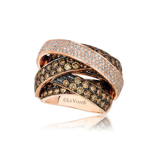 Le Vian Jewelers are famous for their chocolate diamond rings.