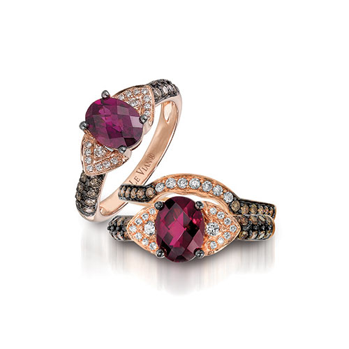 This Levian Chocolate diamond ring also has one of their fiery red diamonds!