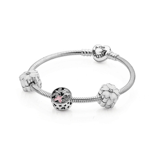 Pandora offers both bangles and charm bracelets.