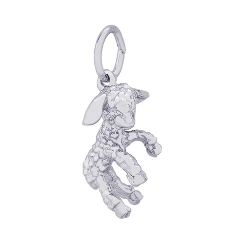 This lamb charm is available in both silver and gold.