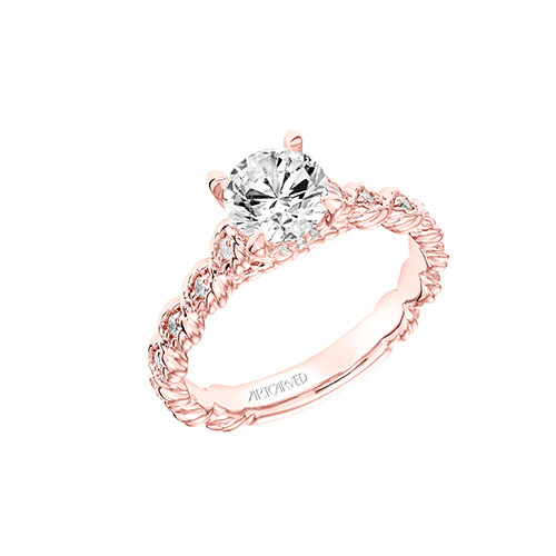 Larisa is a solitaire diamond engagement ring.
