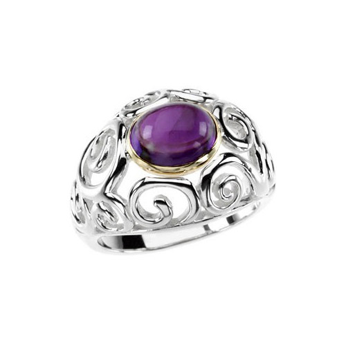 Try this purple ring on at Ben David Jewelers.